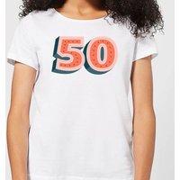50 Dots Women's T-Shirt - White - XXL - White