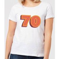 70 Dots Women's T-Shirt - White - S - White