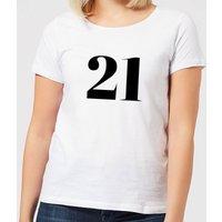 21 Women's T-Shirt - White - XL - White