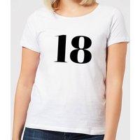 18 Women's T-Shirt - White - S - White