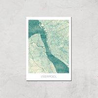 City Art Coloured Liverpool Map Art Print - A2 - Print Only