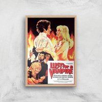 Lust For A Vampire Giclee Art Print - A3 - Wooden Frame