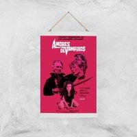 Amores De Vampiros Giclee Art Print - A3 - White Hanger