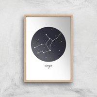 Virgo Art Print - A2 - Wooden Frame