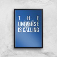 The Universe Is Calling Schematic Art Print - A3 - Black Frame