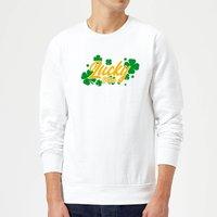 Lucky Bitch Sweatshirt - White - L - White