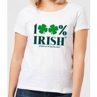 100% Irish* Women's T-Shirt - White - L - White