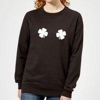 Lucky Boobs Women's Sweatshirt - Black - S - Black