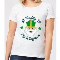 St Paddy Is My Wingman Women's T-Shirt - White - 4XL - White