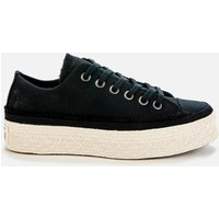 Converse Women's Chuck Taylor All Star Espadrille Ox Trainers - Black/White/Natural - UK 7