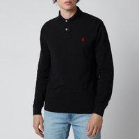 Polo Ralph Lauren Mens Slim Fit Mesh Long Sleeve Polo Shirt - Polo Black - XL