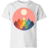 Andy Westface Rainbow Peak Kids' T-Shirt - White - 3-4 Years - White