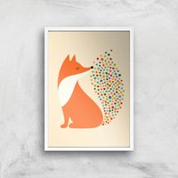 Andy Westface Little Fire Giclee Art Print - A4 - White Frame