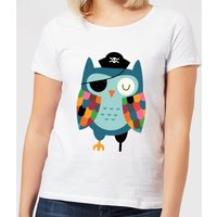 Andy Westface Captain Whooo Women's T-Shirt - White - L - White