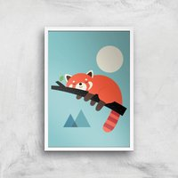 Andy Westface Nap Time Giclee Art Print - A2 - White Frame