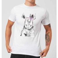 Indie Rhino Men's T-Shirt - White - 3XL - White