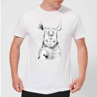 Blushed Rhino Men's T-Shirt - White - XL - White