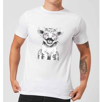 Moustache Cub Mens T-Shirt - White - M - White