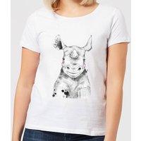 Blushed Rhino Women's T-Shirt - White - M - White