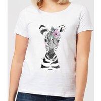 Floral Zebra Women's T-Shirt - White - XXL - White