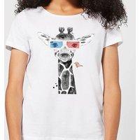 3D Giraffe Women's T-Shirt - White - 3XL - White