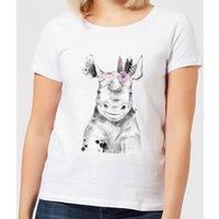 Indie Rhino Women's T-Shirt - White - 5XL - White