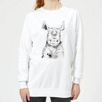 Blushed Rhino Women's Sweatshirt - White - XXL - White