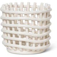 Ferm Living Ceramic Basket - Off White - Small