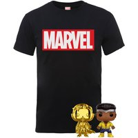 The Marvel Pop! and T-Shirt Bundle Mens T-Shirt - Black - Womens - XL - Black