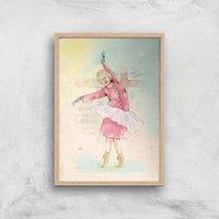 Dancing Queen Giclee Art Print - A2 - Wooden Frame