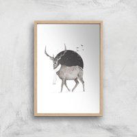Winter Is All Around Colour Print Giclee Art Print - A4 - Wooden Frame