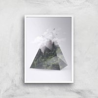 Forest Triangle Giclee Art Print - A4 - White Frame