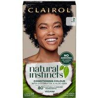 Clairol Natural Instincts Semi-Permanent No Ammonia Vegan Hair Dye 177ml (Various Shades) - 2 Black