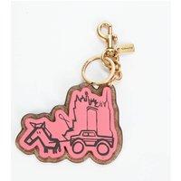 Coach 1941 Women's Li Ruosi Signature Bag Charm - Confetti Pink/Tan Sig