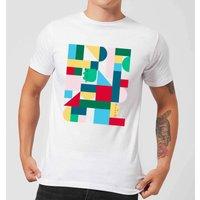Pusheen Geometric Block Men's T-Shirt - White - XL - White