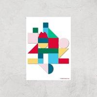 Pusheen Geometric Giclee Art Print - A2 - Print Only