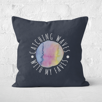 Catching Waves With My Faves Square Cushion - 60x60cm - Soft Touch