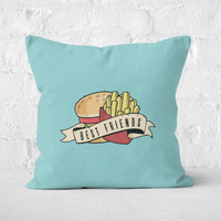 'Fast Food Friends Square Cushion - 40x40cm - Soft Touch