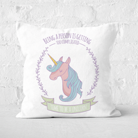 Time To Be A Unicorn Square Cushion - 40x40cm - Soft Touch