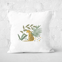 Pressed Flowers Silently Waiting Square Cushion - 50x50cm - Soft Touch