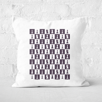 Chess Board Repeat Pattern Monochrome Square Cushion - 40x40cm - Soft Touch