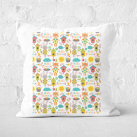 Pressed Flowers Spring Adventures Square Cushion - 60x60cm - Soft Touch