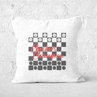 Checkers Board Champion Square Cushion - 60x60cm - Soft Touch