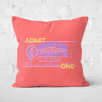 Pressed Flowers Circus Admittance Square Cushion - 60x60cm - Soft Touch