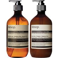 Aesop Geranium Cleanser and Reverence Hand Wash Duo (Worth PS60.00)