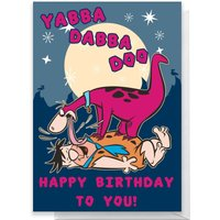 Flintstones Happy Birthday Greetings Card - Standard Card