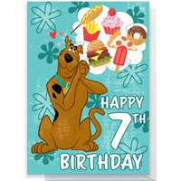 Scooby Doo 7th Birthday Greetings Card - Standard Card