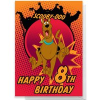 Scooby Doo 8th Birthday Greetings Card - Standard Card