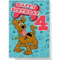 Scooby Doo 4th Birthday Greetings Card - Standard Card