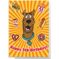 Scooby Doo 5th Birthday Greetings Card - Standard Card